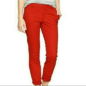 Red khakis by gap || size 2